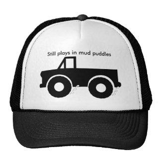 Todavía juegos en los charcos de fango 4WD Gorro