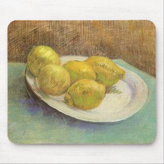 Todavía limones de la vida en una placa de Vincent Mouse Pads