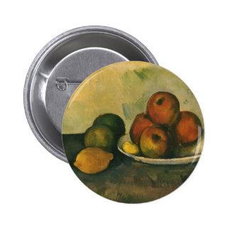 Todavía manzanas de la vida w por Cezanne, arte Chapa Redonda 5 Cm