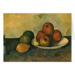 Todavía manzanas de la vida w por Cezanne, arte Tarjeta De Felicitación