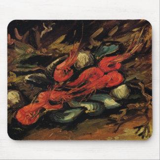 Todavía mejillones y camarón de la vida de Vincent Alfombrilla De Ratones