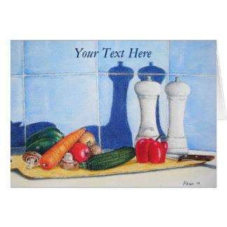 todavía original de pintura mezclada vida de la tarjeta pequeña