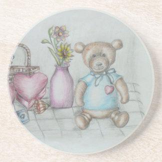 todavía oso de peluche del nad de los corazones posavasos manualidades