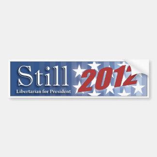 Todavía pegatina para el parachoques 2012 pegatina para auto