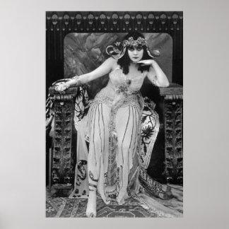 Todavía película de Theda Bara Cleopatra B&W en lo Posters
