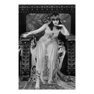 Todavía película de Theda Bara Cleopatra B&W en lo Póster