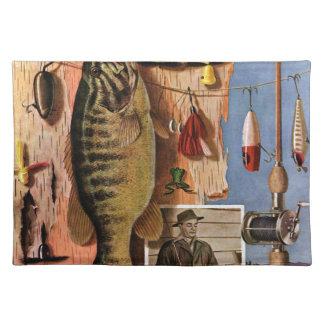 Todavía pesca de vida de Juan Atherton Manteles Individuales