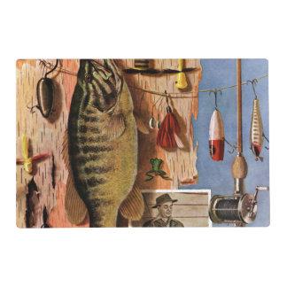 Todavía pesca de vida de Juan Atherton Tapete Individual
