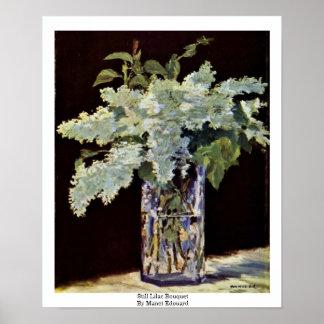 Todavía ramo de la lila de Manet Eduardo Póster