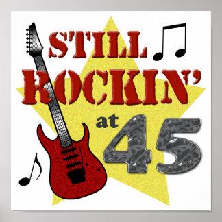 Todavía Rockin en 45 Póster