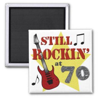 Todavía Rockin en 70 Imán Cuadrado