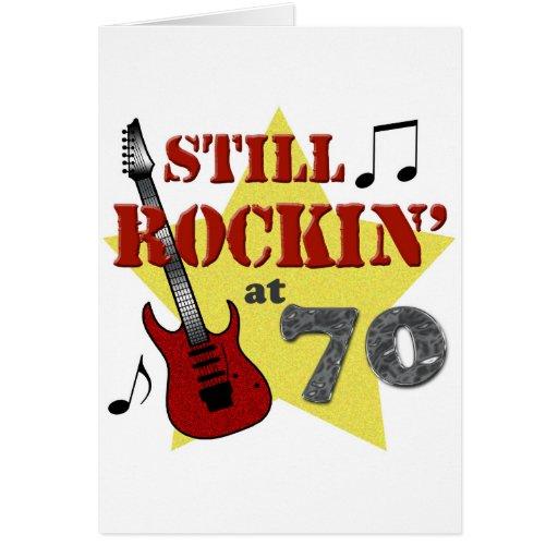Todavía Rockin en 70 Tarjeta De Felicitación