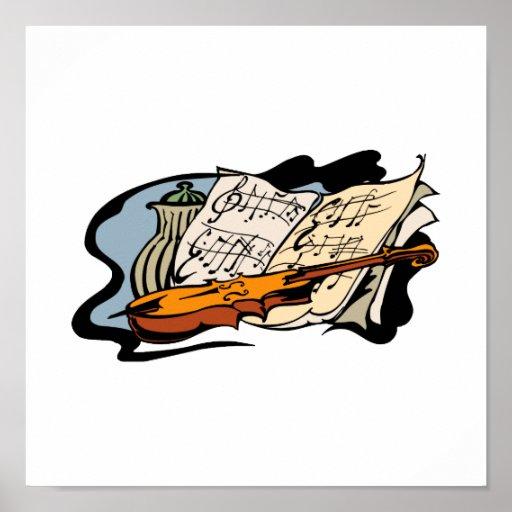 todavía tarro life.png de la música del violín impresiones