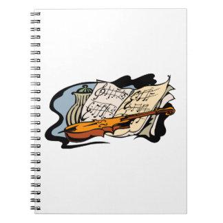 todavía tarro life.png de la música del violín spiral notebook