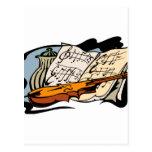 todavía tarro life.png de la música del violín tarjetas postales