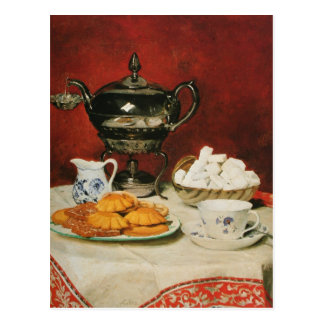 Todavía té y rollos de fusión - Albert Anker de la Postales