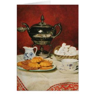 Todavía té y rollos de fusión - Albert Anker de la Tarjeta De Felicitación