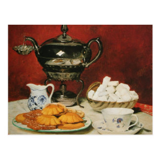 Todavía té y rollos de fusión - Albert Anker de la Tarjeta Postal