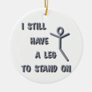 Todavía tengo una pierna a colocarse encendido, adorno navideño redondo de cerámica