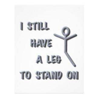 Todavía tengo una pierna a colocarse encendido pl membrete