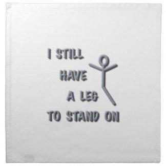 Todavía tengo una pierna a colocarse encendido pl servilleta imprimida