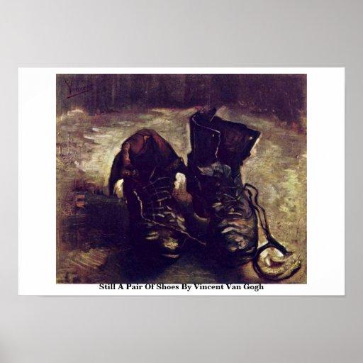 Todavía un par de zapatos de Vincent van Gogh Posters