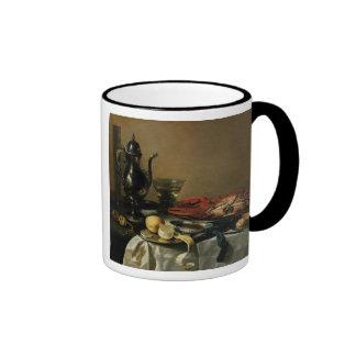 Todavía vida, 1643 (aceite en el panel) tazas de café