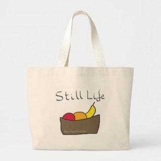 Todavía vida bolsa tela grande