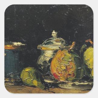 Todavía vida, c.1865 pegatina cuadrada