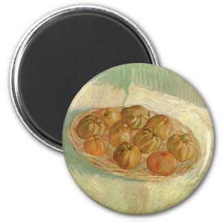 Todavía vida, cesta de manzanas de Vincent van Imán Redondo 5 Cm