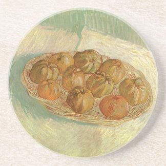 Todavía vida, cesta de manzanas de Vincent van Posavasos Manualidades