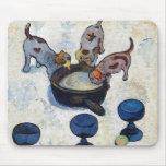 Todavía vida con 3 perritos de Paul Gauguin Tapetes De Raton