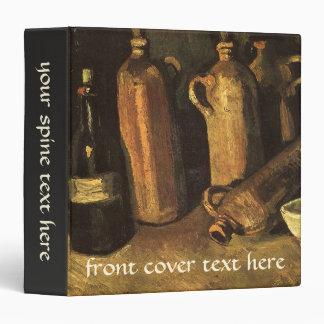 """Todavía vida con 4 botellas de piedra; Vincent van Carpeta 1 1/2"""""""