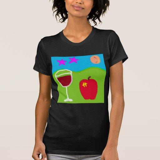 todavía vida con apple.jpg camisetas