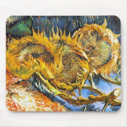 Todavía vida con cuatro girasoles Van Gogh Vincent Mouse Pad