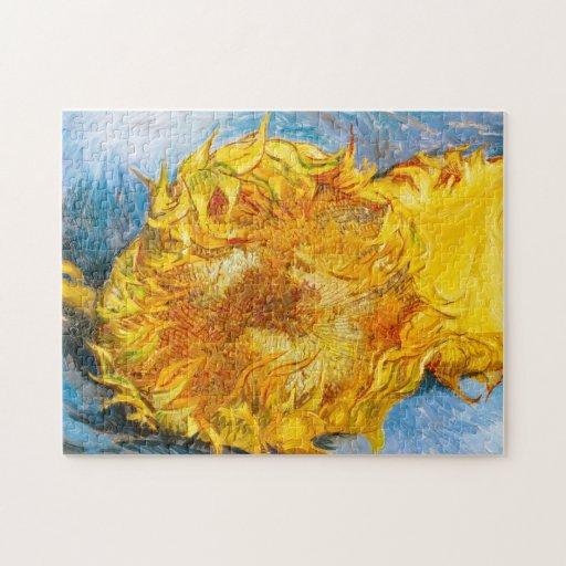 Todavía vida con dos girasoles de Vincent van Gogh Puzzle