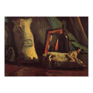 """Todavía vida con dos sacos y un Bottl de Van Gogh Invitación 5"""" X 7"""""""