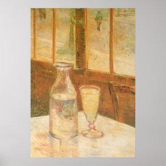 Todavía vida con el ajenjo de Vincent van Gogh Póster