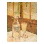 Todavía vida con el ajenjo de Vincent van Gogh Postal