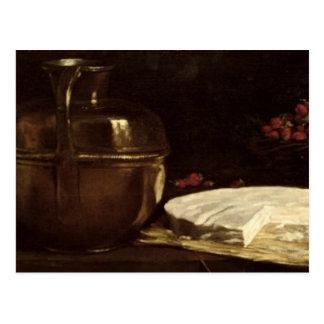 Todavía vida con el brie, 1863 tarjetas postales