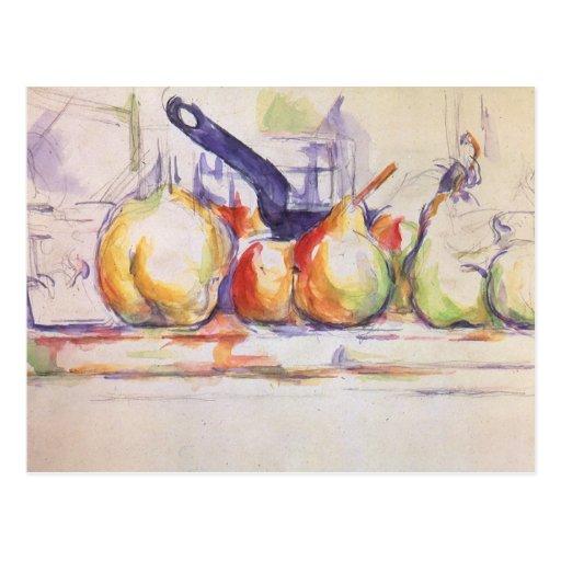 Todavía vida con el cazo de Paul Cezanne Tarjetas Postales