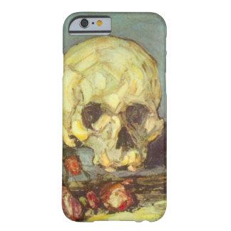 Todavía vida con el cráneo, vela, libro por funda para iPhone 6 barely there