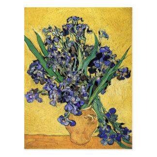Todavía vida con el iris de Vincent van Gogh Tarjetas Postales
