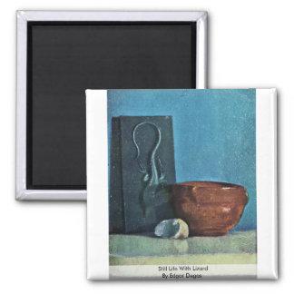 Todavía vida con el lagarto de Edgar Degas Imán Para Frigorifico