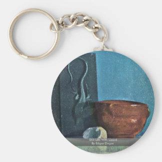 Todavía vida con el lagarto de Edgar Degas Llaveros