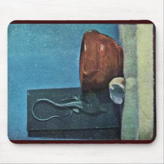 Todavía vida con el lagarto de Edgar Degas Tapetes De Raton