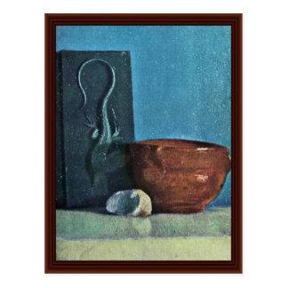 Todavía vida con el lagarto de Edgar Degas Postal