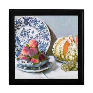 Todavía vida con el melón, Claude Monet 1872 Cajas De Joyas