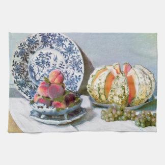 Todavía vida con el melón, Claude Monet 1872 Toalla De Mano