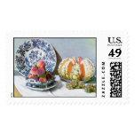Todavía vida con el melón, Claude Monet 1872 Sello